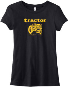 Tractor Womens Black T